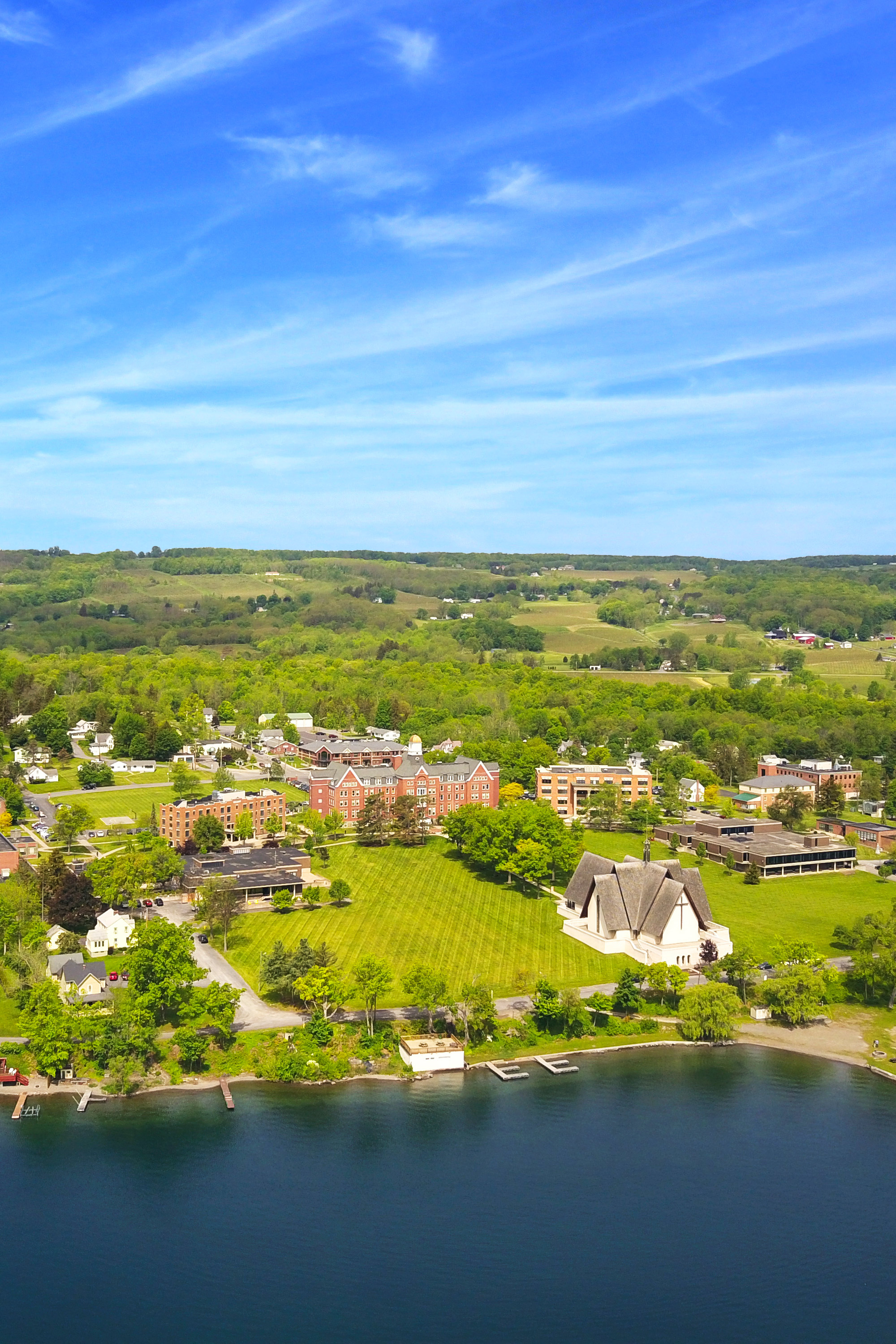 Keuka College from the air
