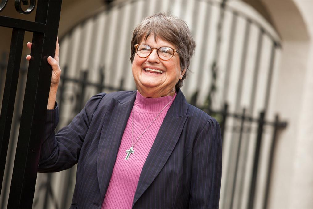 Sister Helen Prejean, who will speak at Keuka College, poses