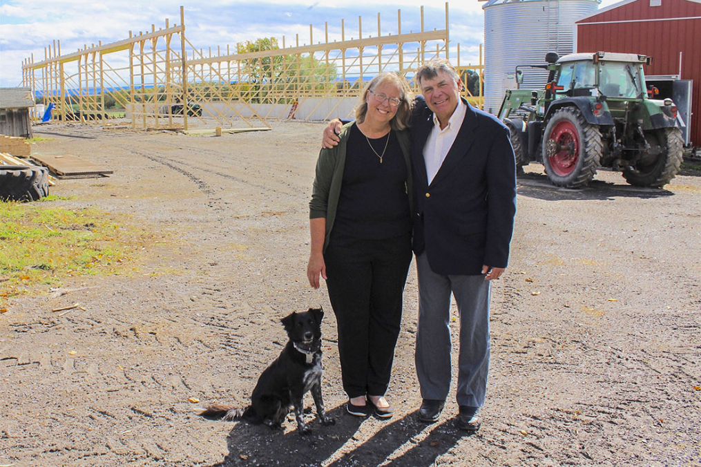 Penn Yan residents Klaas and Mary-Howell Martens on their farm, Lakeview Organic Grain.