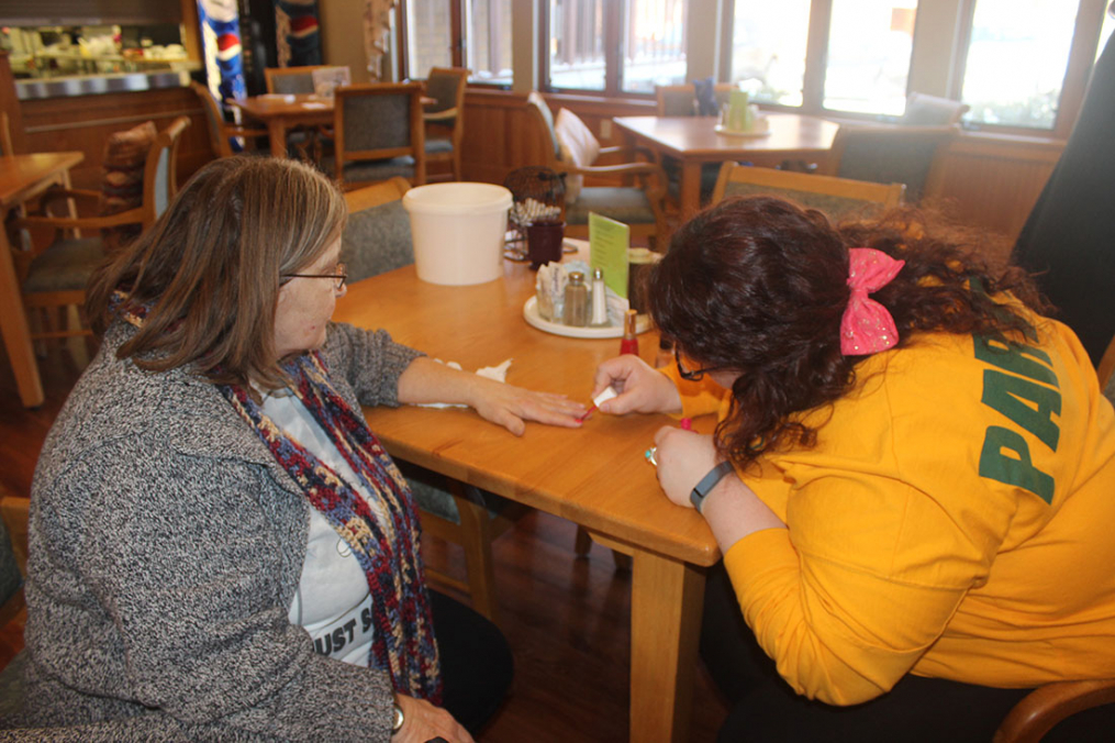 Keuka College alumni will visit with the residents of Clinton Crest Manor as part of the College's participation in the annual MLK Day of Service. One of the activities planned is fingernail painting.