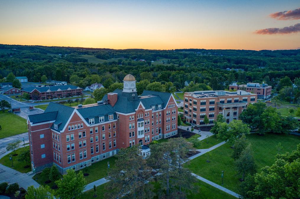 Aerial view of Ball Hall