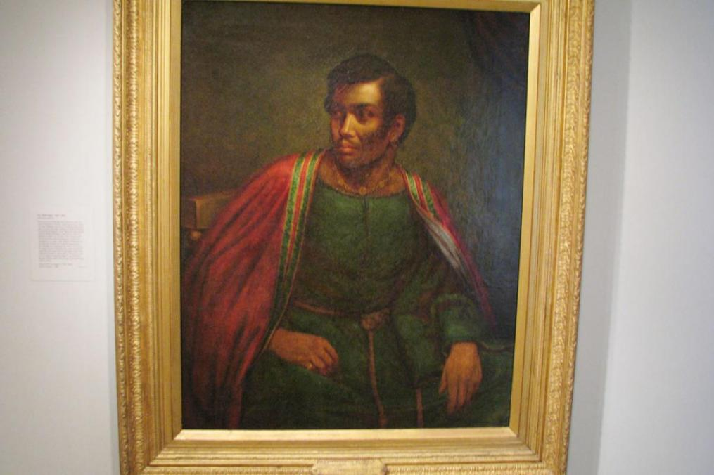 portrait of Ira Aldridge as Othello, painted by Heny Perronet Briggs