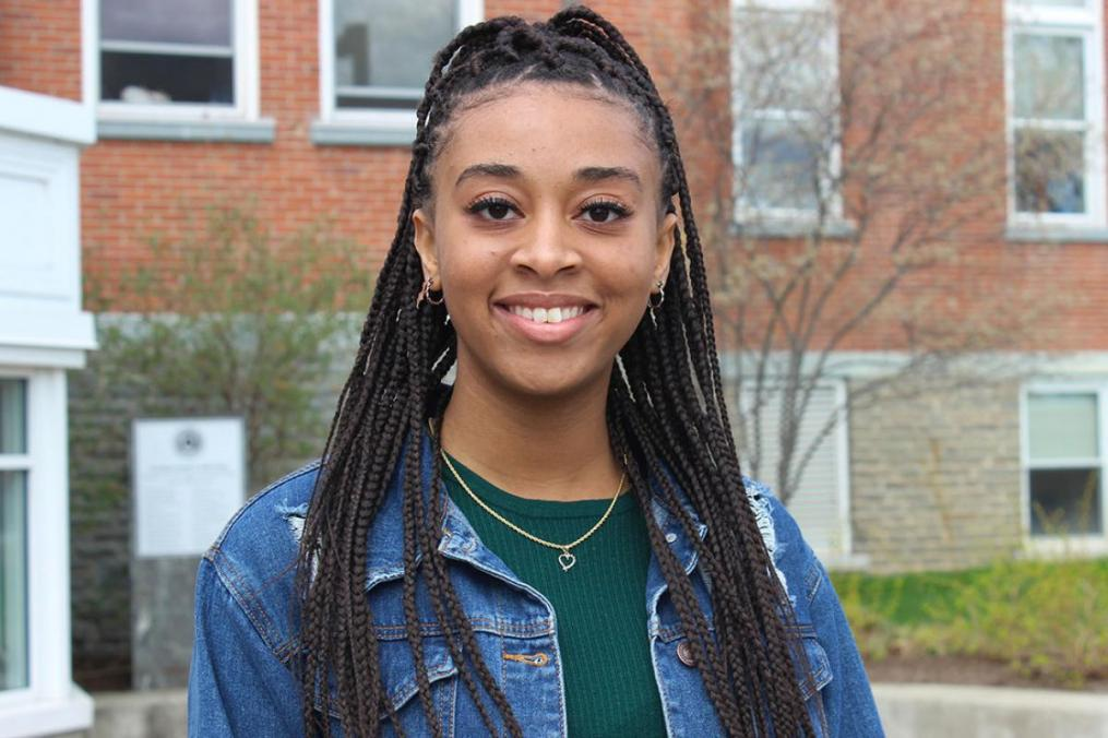 Ayana West '22, a unified childhood education major who was nominated by Dr. Klaudia Lorinczova, chair of the Division of Educational Studies. Her first Field Period® placement was at LE3 Inc.—Educational Learning Center and Thomas Edison Elementary School (January 2019).