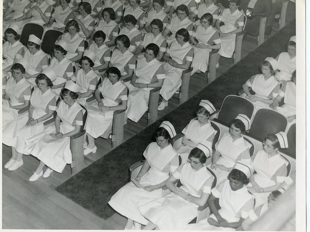 By 1959, Nursing students made up nearly one-third of the Keuka College student body of 325.