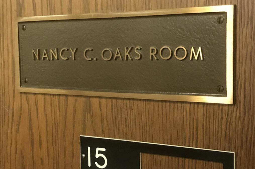 A room in the Dahlstrom Student Center is named in memory of Mary Beth's younger sister, Nancy Oaks, who perished in a 1970 plane crash.