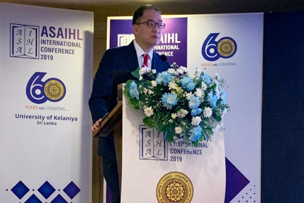 Dr. Joseph R. Hwang gives the Plenary Presentation at the winter meeting in Sri Lanka