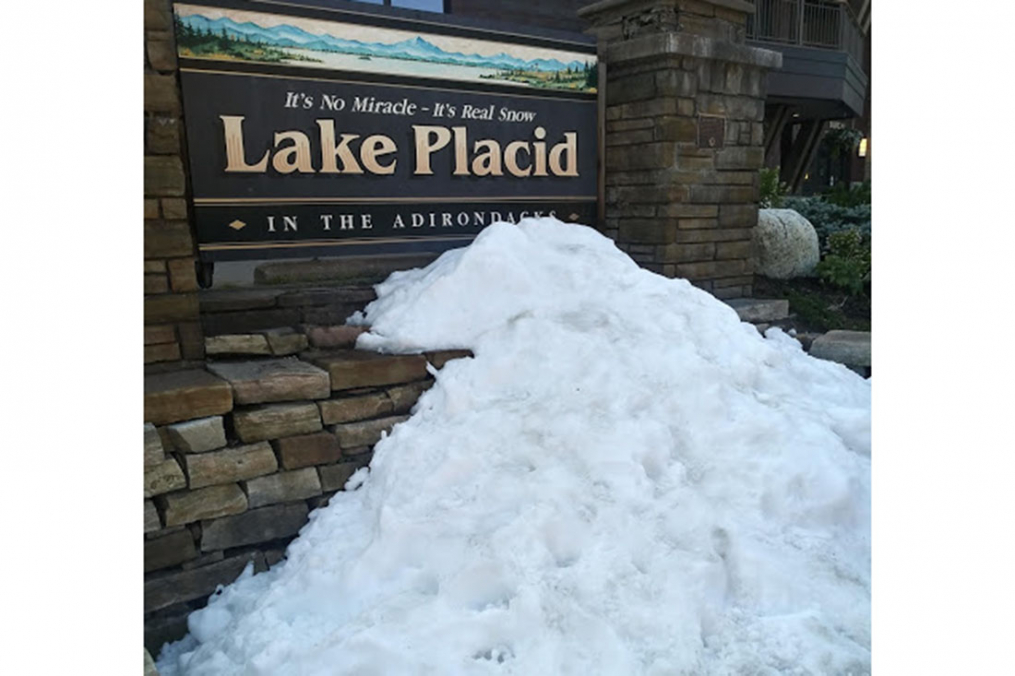 Olivia Ennist '20, visited Lake Placid as part of her Summer 2019 Field Period®. As the sign says, it's real snow...in July.