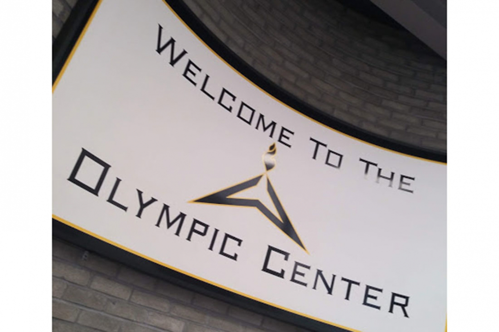During her visit to Lake Placid, Olivia Ennist '20, stopped by the Olympic Center.