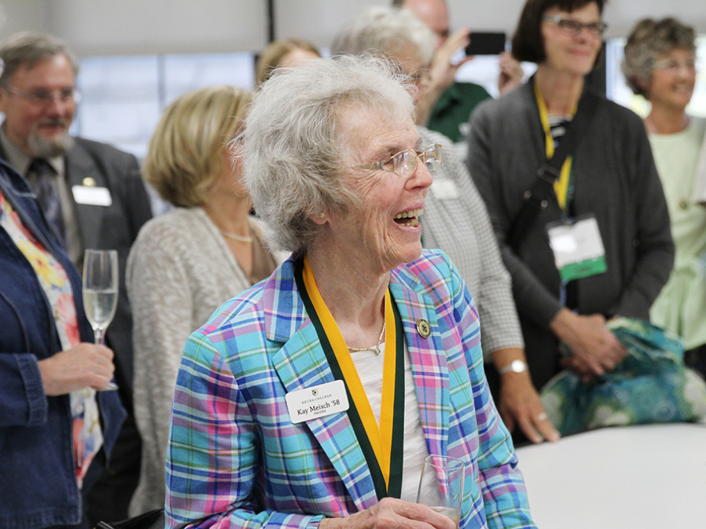 College Trustee Katherene Tuttle Meisch '58 attends the opening ceremony for the new Center for Art & Design.