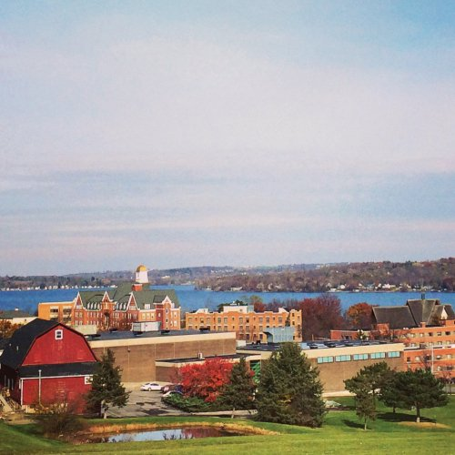 The Keuka College campus as viewed from Davis Hill
